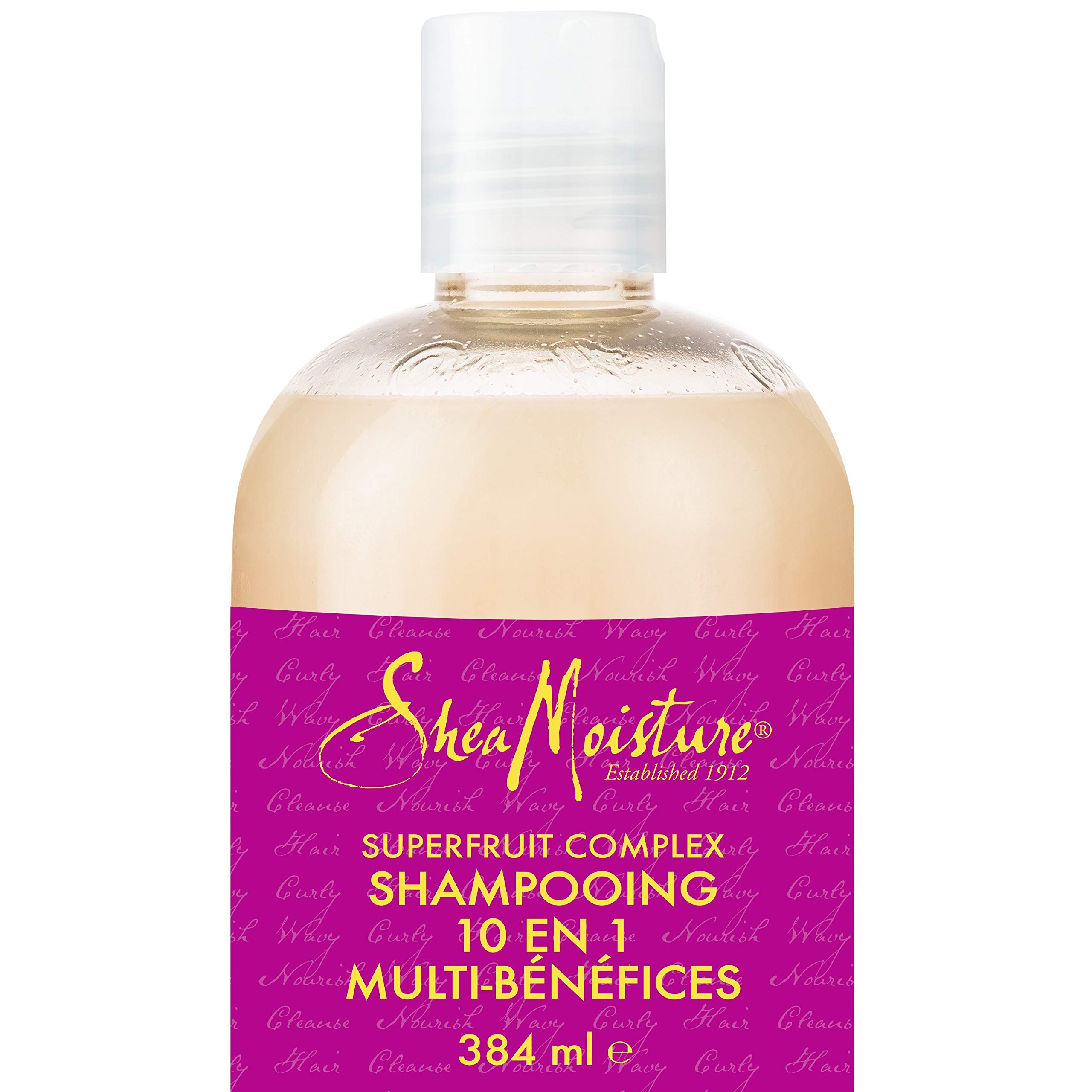 Shea Moisture Superfruit Complex 10-in-1 Multi-Benefit Shampoo, with Marula Oil & Biotin, to Cleanse and Nourish Wavy, Curly Hair 384 ml