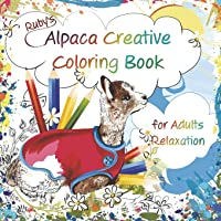 Ruby's Alpaca Creative Coloring Book for Adults Relaxation