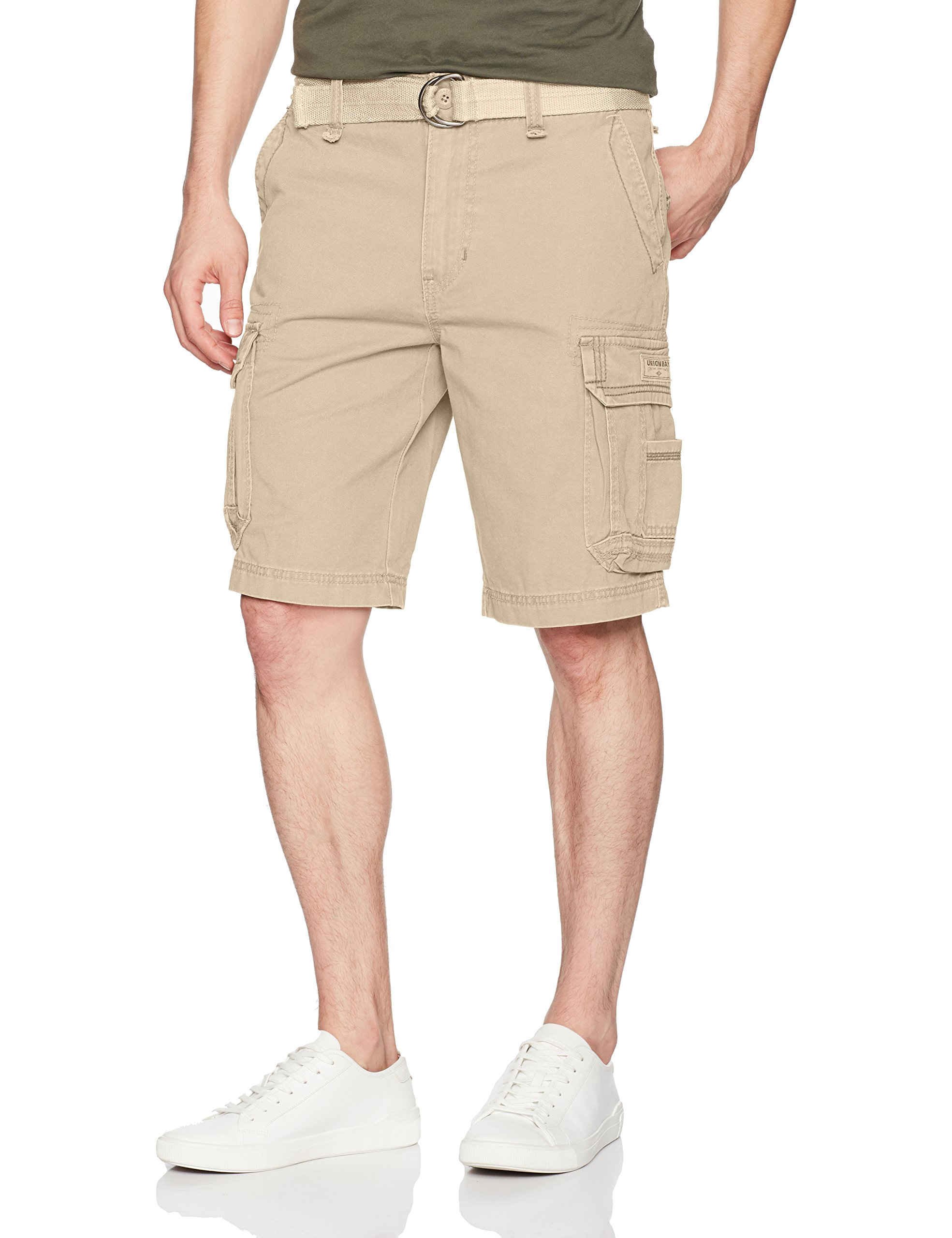 UNIONBAY Men's Survivor Belted Cargo Short, Desert 44 by UNIONBAY (Image #1)