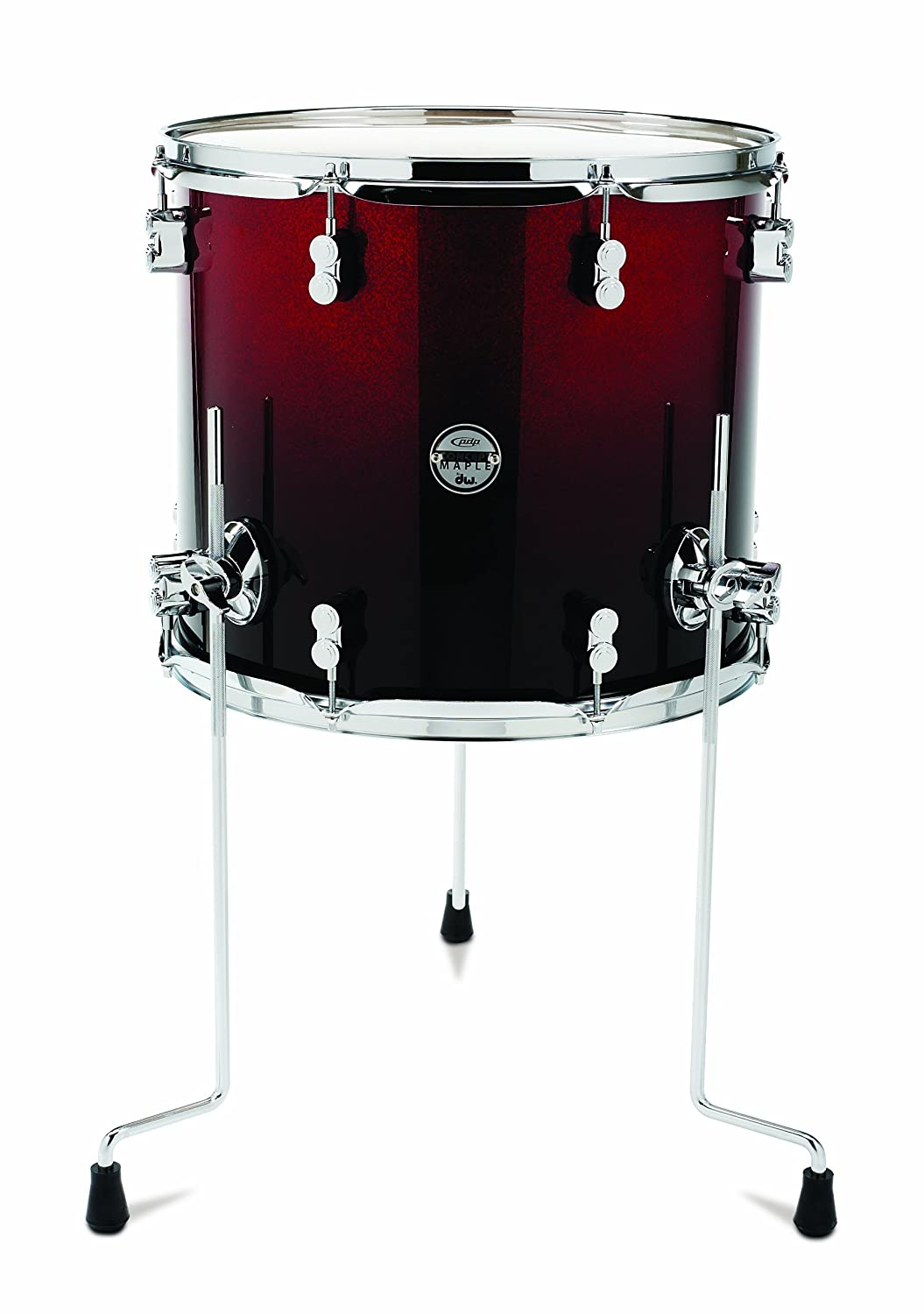 Amazon.com: Pacific Drums PDCM1618TTRB 16 X 18 Inches Floor Tom With Chrome  Hardware   Red To Black Fade: Musical Instruments