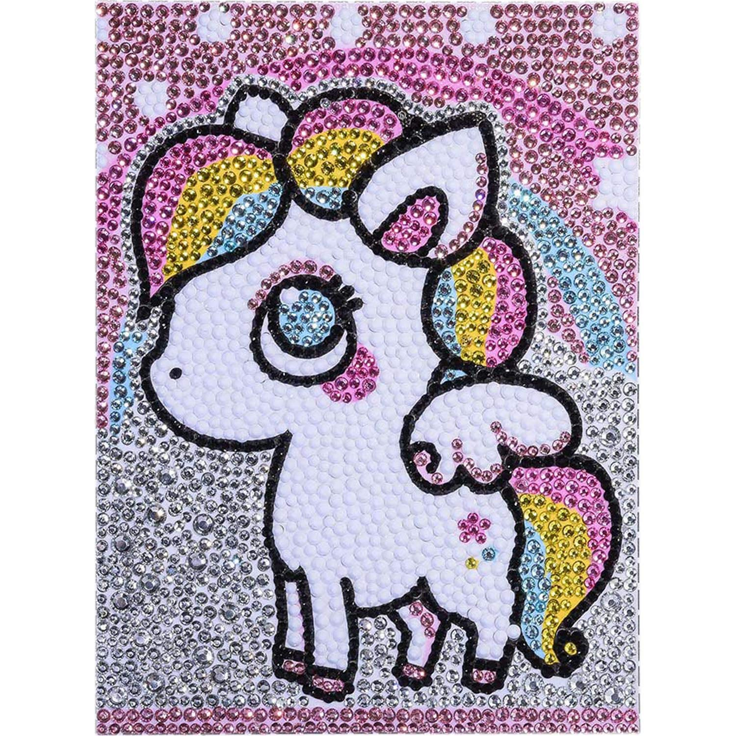 FIGHTA 5D Diamond Painting Kits for Kids Full Drill Painting by Number Kits for Children Rhinestone Diamond Embroidery Home Wall Decor (Pony) by FIGHTA