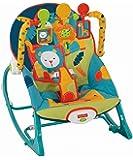 Fisher-Price婴幼儿幼童摇杆玩具,野生动物园图案