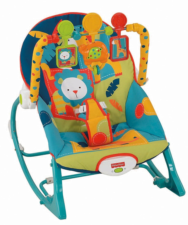 Fisher-Price Infant-to-Toddler Rocker, Dark Safari BML88