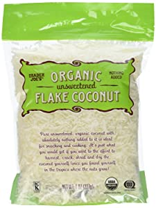 2 Bags of Trader Joe's Organic Unsweetened Flake Coconut