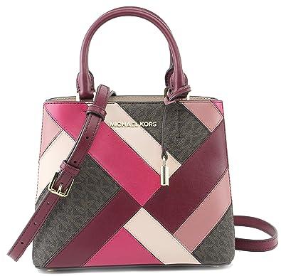 1c3b24dbb57101 Amazon.com: MICHAEL Michael Kors Women's Adele MD Messenger Leather Mulberry  Multi, Style 35F8GAFM6V: Shoes