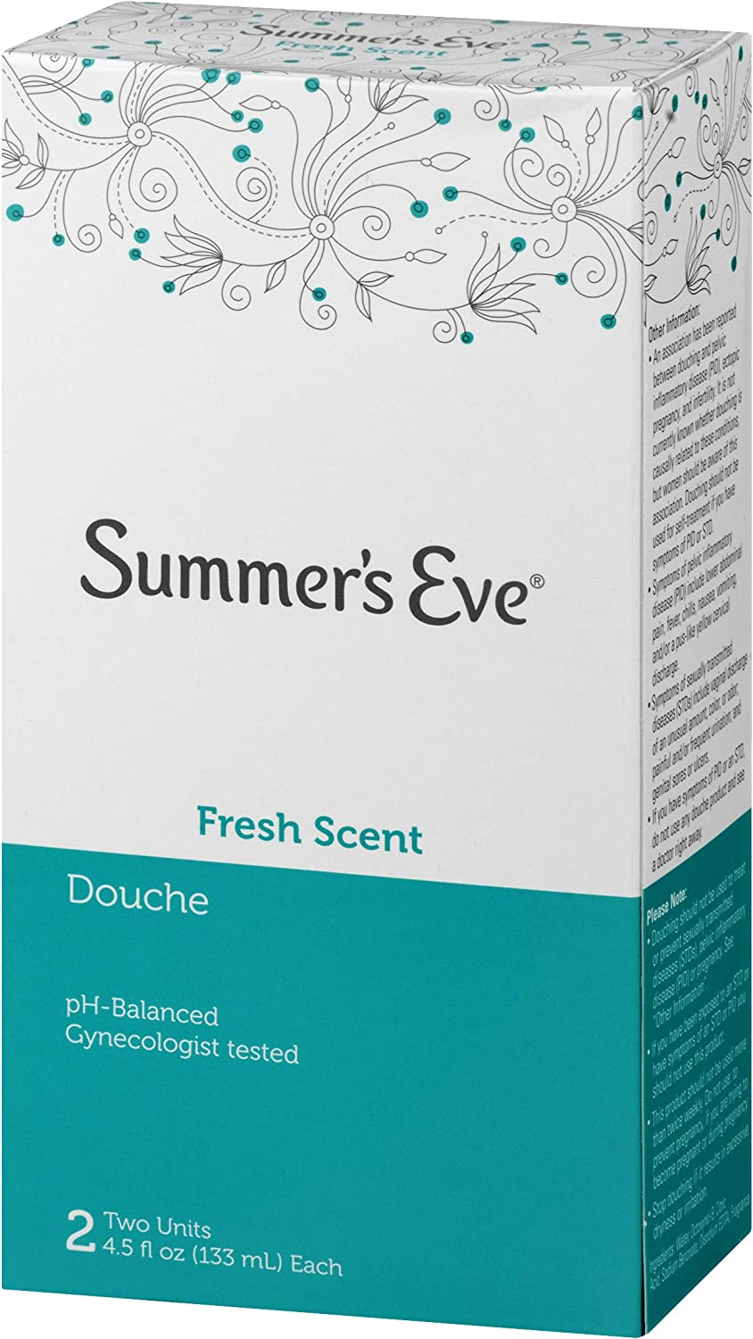 Summer's Eve Douche, Fresh Scent, pH Balanced, Dermatologist & Gynecologist Tested, 2 Count per pack, 9 Fl Oz: Health & Personal Care