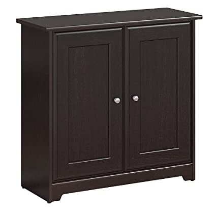 Bush Furniture Cabot Small Storage Cabinet With Doors In Espresso Oak