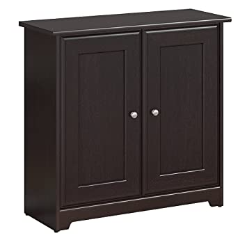 Amazon.com: Bush Furniture Cabot Small Storage Cabinet With Doors In  Espresso Oak: Kitchen U0026 Dining