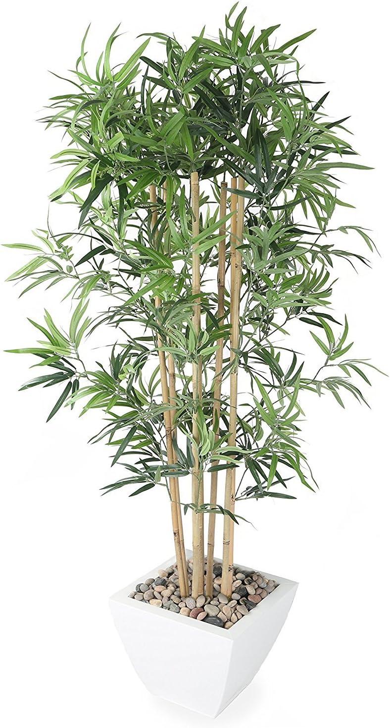 Closer2Nature Artificial 5ft Golden Bamboo Tree - Portofino Planter Not Included