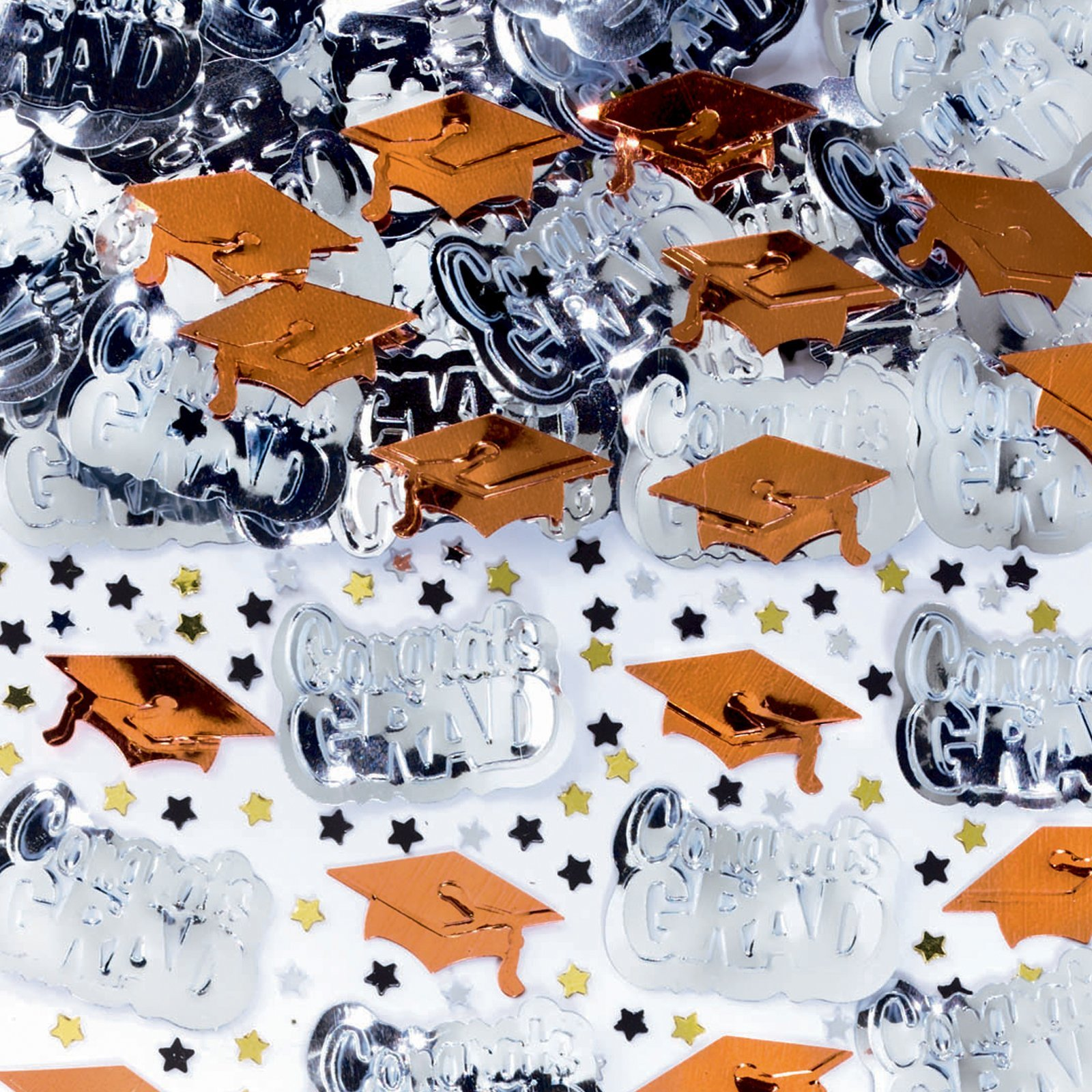 Amscan Congrats Grad Orange Graduation Confetti by Amscan