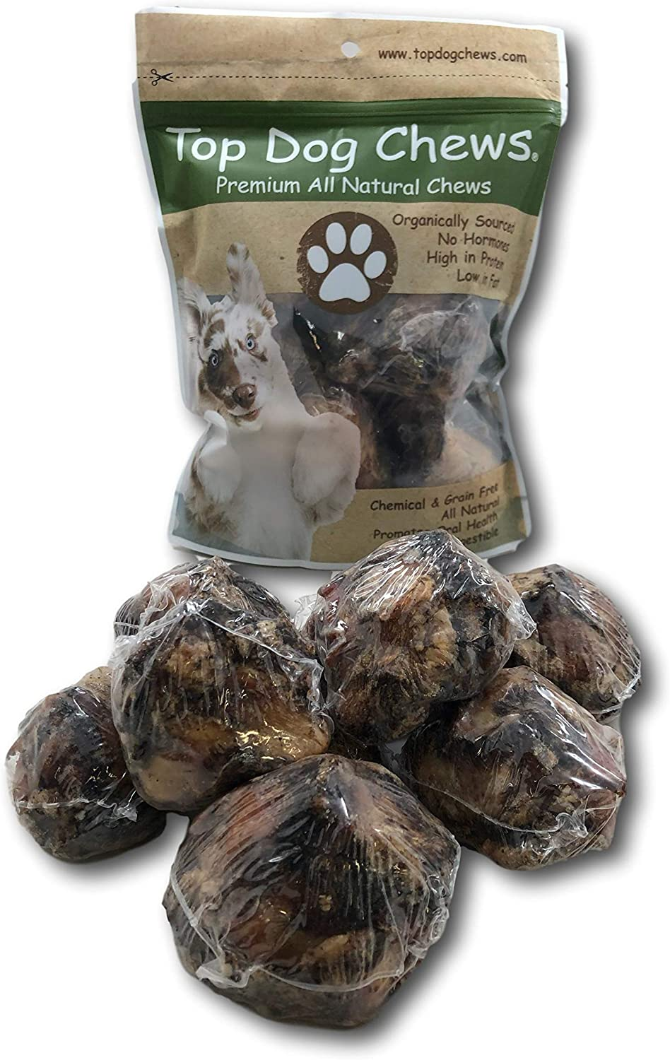 Top Dog Chews USA Dog Bone Knee Caps – 100% Natural Long Lasting Beef Chews for Dogs Perfect for Small, Medium & Large Dogs