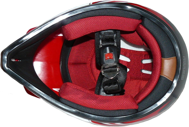 Protectwear Ni/ños Casco Cross MaX Racing  rojo brillante V310-RT Tama/ño 3XS juventud S 49//50 cm