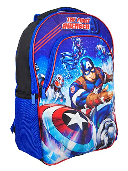 1e365a50ec5c Image Unavailable. Image not available for. Color  Marvel  quot The First  Avenger quot  Captain America Color Change Lights 16-inch Backpack