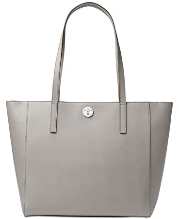 fe22693ef125 Amazon.com: MICHAEL Michael Kors Rivington Large Leather Tote Pearl Grey:  Beauty