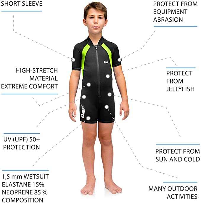 Amazon.com : Cressi kuressi Baby Shorty 1.5 mm Wetsuit for ...