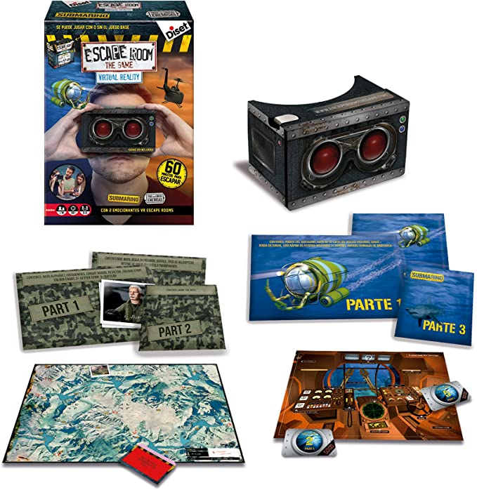 Diset- Escape Room Virtual Reality, Juego de Mesa (62309): Amazon ...