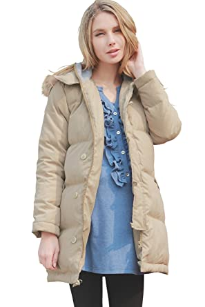 afb31cce410f Sweet Mommy Maternity and Mother s Down Coat with Baby Wearing Pouch ...