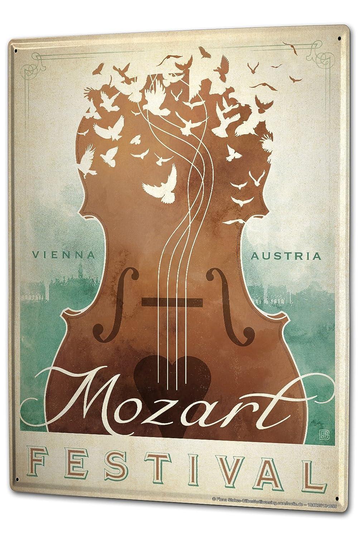 Cartel Letrero de Chapa XXL Cine Mozart violín: Amazon.es: Hogar
