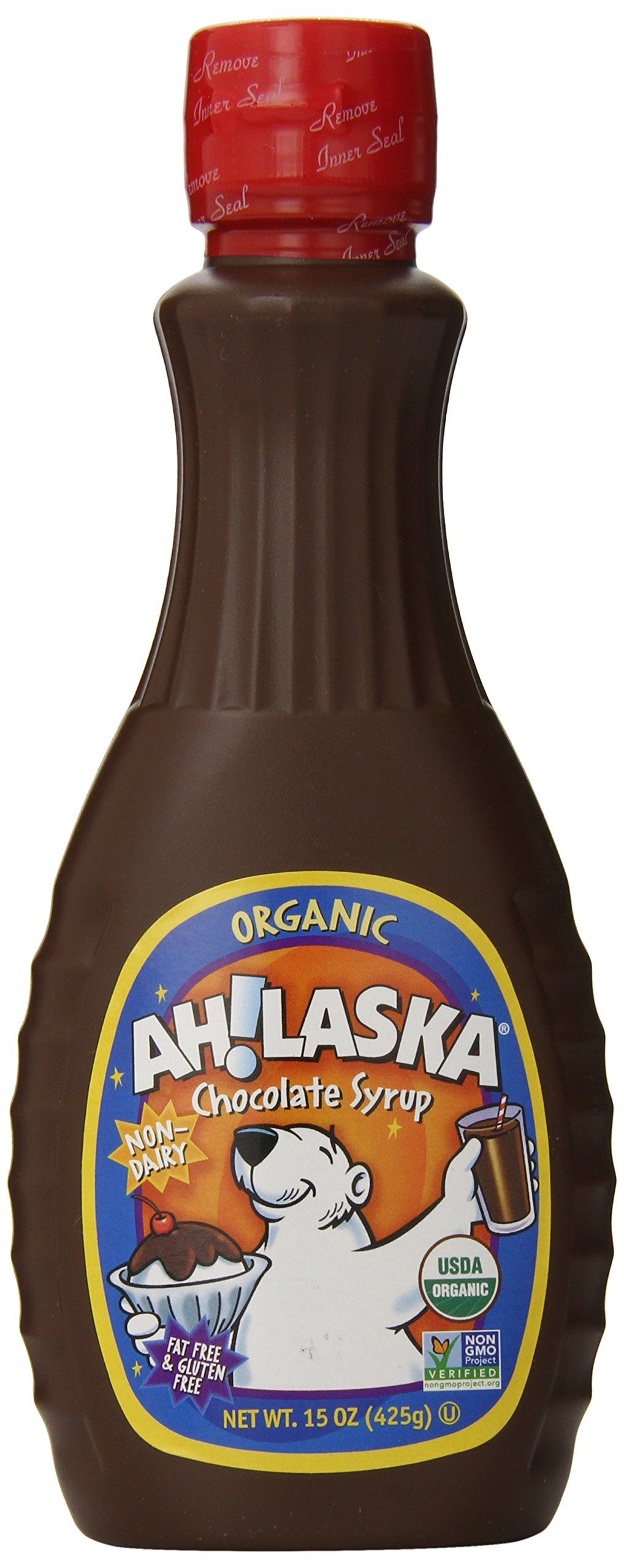 AH!LASKA Organic Syrup, Chocolate, 15-Ounce (Pack of 4)