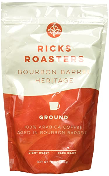 Review Ricks Roasters Coffee Company Bourbon Barrel Heritage Ground, 16 oz