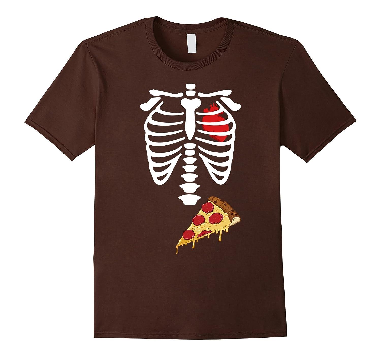 Skeleton Pizza Maternity X-Ray I Heart (Love) Pizza T-Shirt