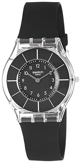 Swatch Reloj Analógico de Cuarzo para Mujer con Correa de Silicona – Zpin-channel-