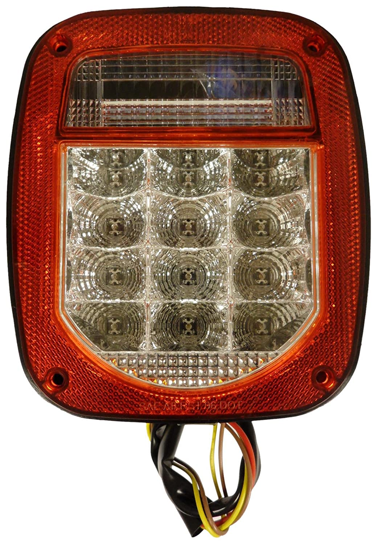 AutoSmart KL-25110L Clear Lens Universal Stud-Mount Combination LED Tail Light with License Illuminator
