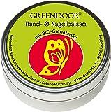 Greendoor mano Balsamo / crema ideale per pelli molto secche con Melagrana Bio, cosmesi naturale, senza conservanti, mano Balsamo mani senza oli minerali e parabeni, 4 fertilità rispetto ad una