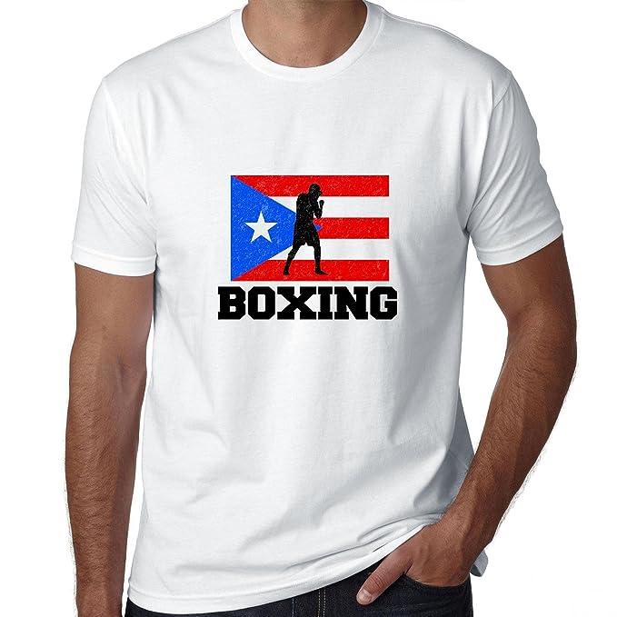 Puerto Rico Bandera de olímpico - Boxeo - Camiseta para hombre: Amazon.es: Ropa y accesorios