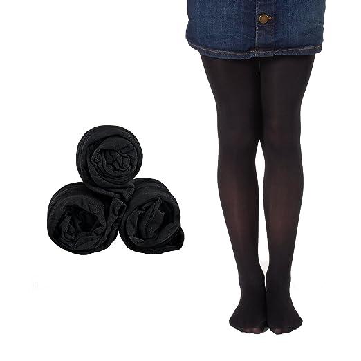 48108cc85c8 Amazon.com  Mallary Girls Microfiber Tights 3-Pack Multiple Colors ...