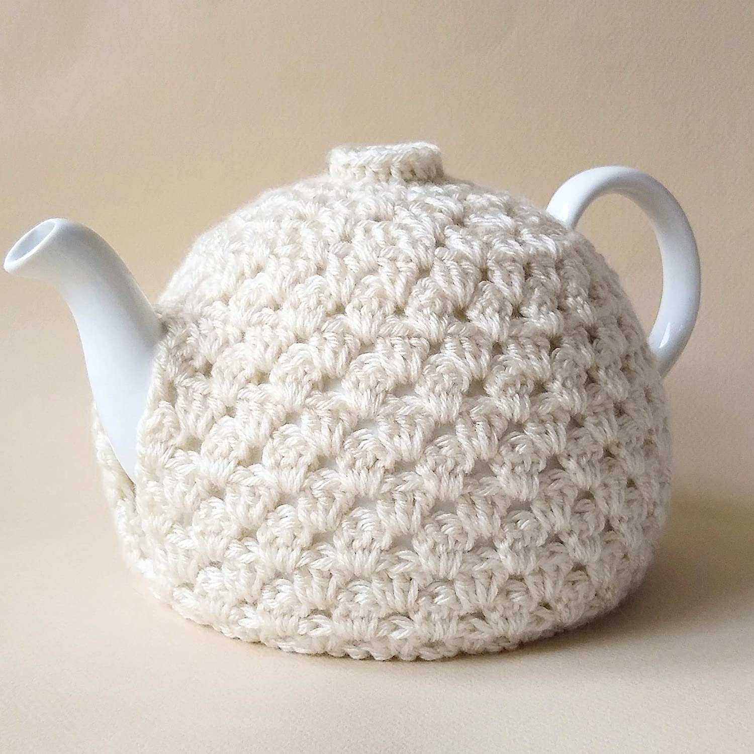 Teapot Cozy Ivory Decorative Cover for Home Decor