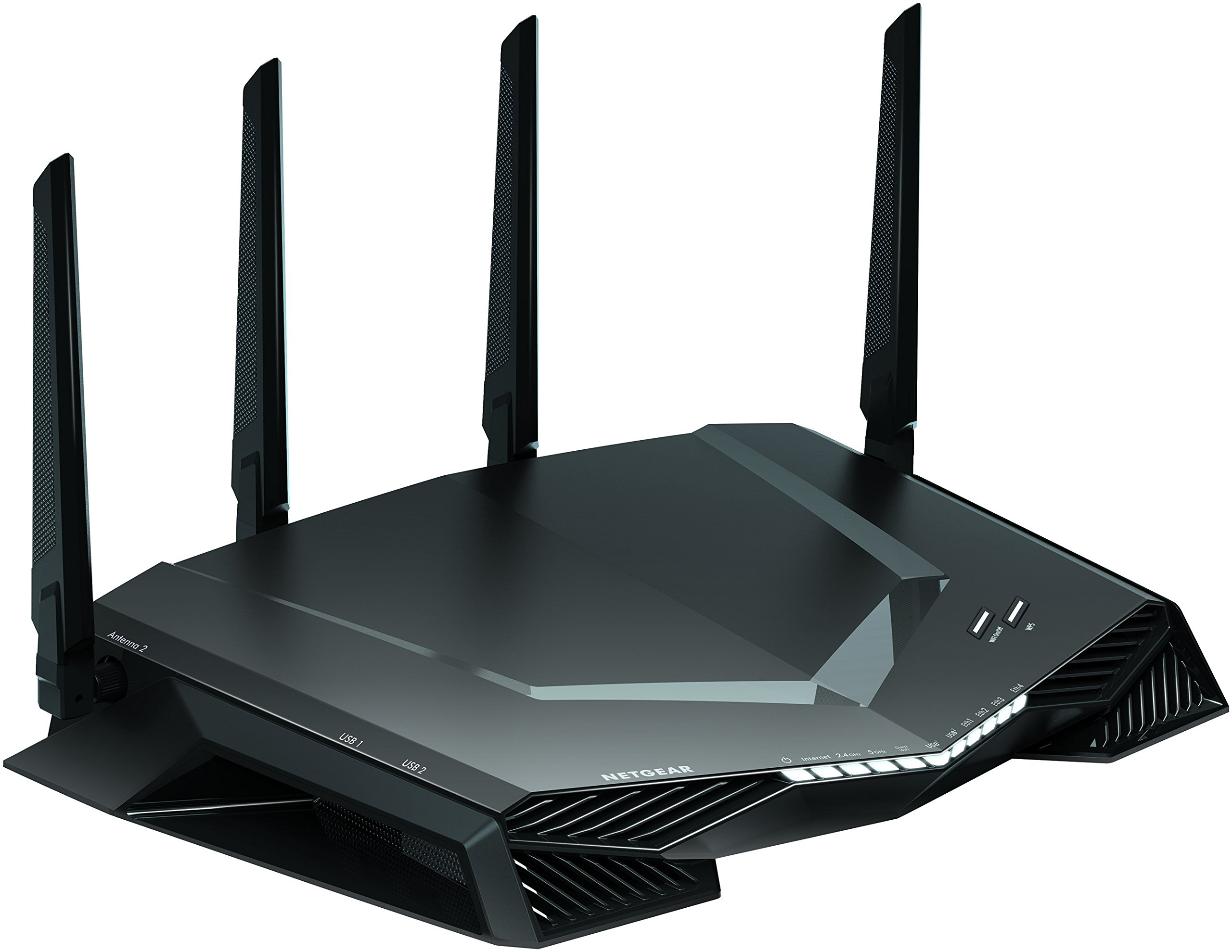 NETGEAR Nighthawk Pro Gaming WiFi Router- Powered by Netduma DumaOS AC2600 Dual band wireless Gigabit Ethernet speeds- Control your ping and latency- Works with Xbox, PlayStation, PC and more, (XR500)