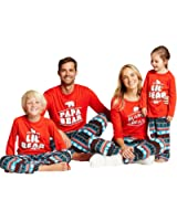 Feurry Papa Mama Kids Baby Bear Matching Family Christmas Pajamas Jammies Sets for The Family