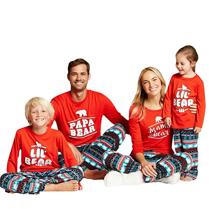 feurry papa mama kids baby bear family matching christmas pajamas sets for the family baby