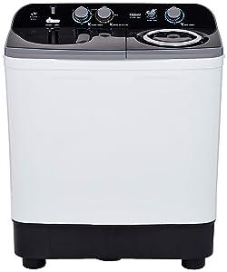 Haier 9.5 Kg Semi-Automatic Top Loading Washing Machine (HTW95-186S, Grey)