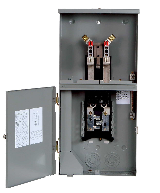 Siemens MC0408B1200RT 4 Space, 8 Circuit, 200-Amp Main Breaker Meter ...