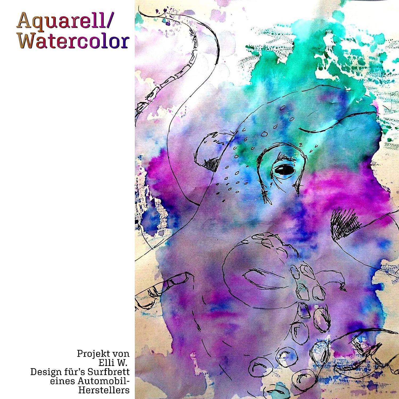 Watercolor DIN A4 300g 20 fogli adatto per pennarelli//pennarelli Carta per acquerelli con 2 strutture incollata in bianco naturale