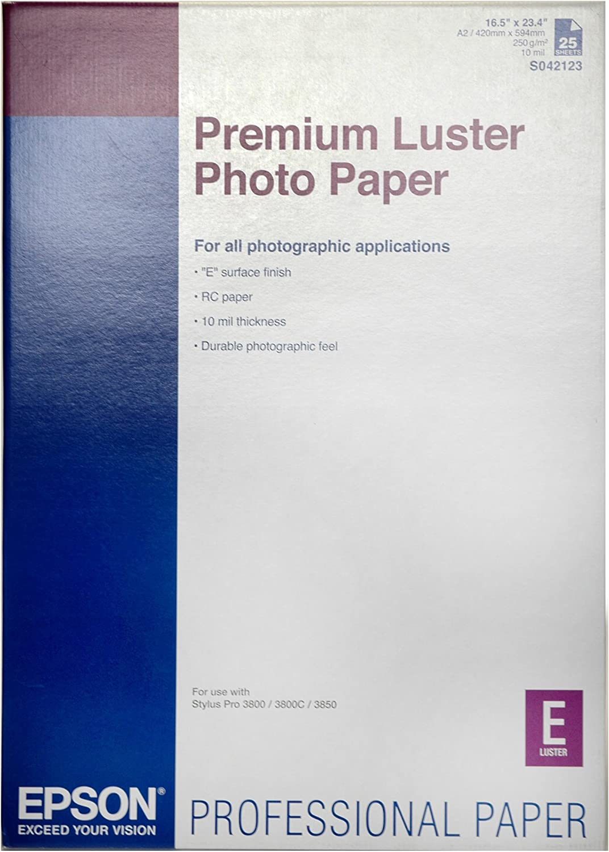 Epson Premium Luster Photo Paper - Papel fotográfico: Epson ...