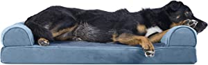 Furhaven Pet - Orthopedic Foam Sofa-Style Traditional Living Room Couch Dog Bed for Dogs and Cats - Multiple Styles, Sizes, and Colors