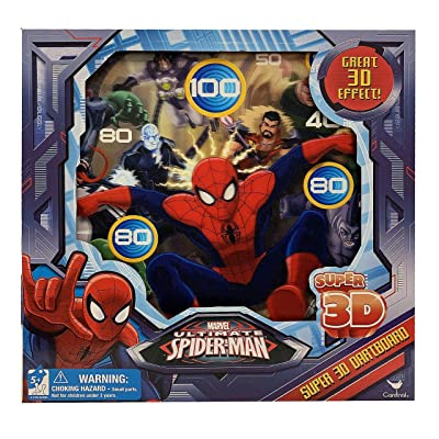 Spider-Man 3D Magnetic Dart Board Game: Toys & Games