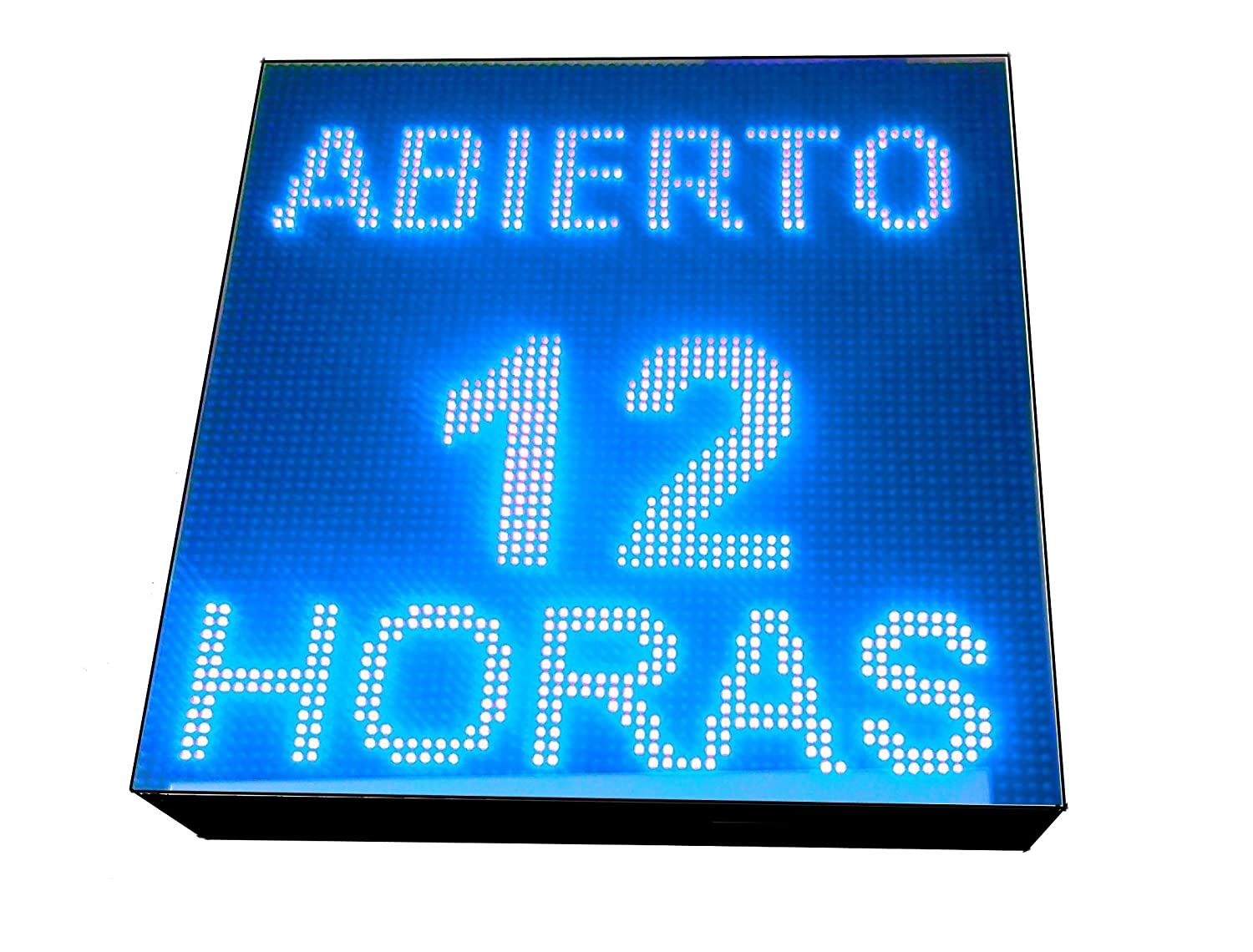 CARTEL LED PROGRAMABLE LETRERO LED PROGRAMABLE PANTALLA LED PROGRAMABLE (64 * 64 cm, AZUL) ROTULO LED PROGRAMABLE CARTEL ELECTRÓNICO ANUNCIA TU ...