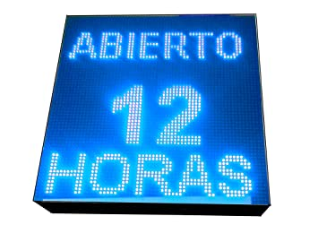 CARTEL LED PROGRAMABLE LETRERO LED PROGRAMABLE PANTALLA LED PROGRAMABLE (64 * 64 cm, AZUL) ROTULO LED PROGRAMABLE CARTEL ELECTRÓNICO ANUNCIA TU ...