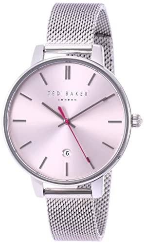 72f6e3174b21 Ted Baker Womens Kate Pink Dial Silver Stainless Steel Mesh Bracelet  TE15162010  Amazon.co.uk  Watches