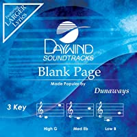 Blank Page AccompanimentPerformance Track Dunaways Download MP3 Music File