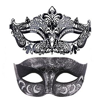 Thmyo Pack de 2 máscaras de Disfraces venecianas para Parejas ...