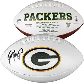 c6a2382bf Brett Favre Green Bay Packers Autographed White Panel Football - Fanatics  Authentic Certified - Autographed Footballs