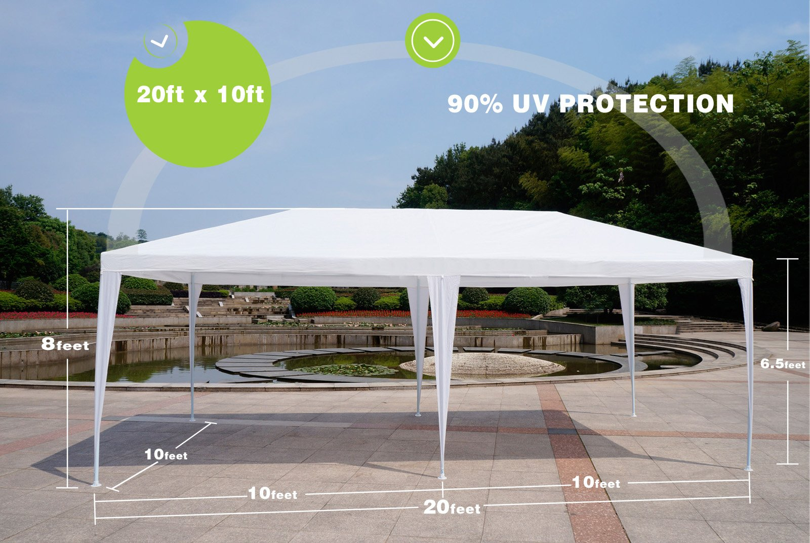 Uscanopy 10'x30' Party Wedding Outdoor Patio Tent Canopy Heavy duty Gazebo Pavilion Event by gaoshanqing (Image #3)