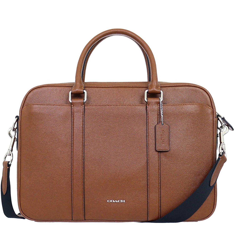 Coach Men's slim Business Briefcase/ Shoulder Bag Brown CWH