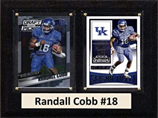 """product image for C&I Collectables NCAA Kentucky Wildcats Men's Randall Cobb Two Card Plaque, Brown, 6""""X8"""""""