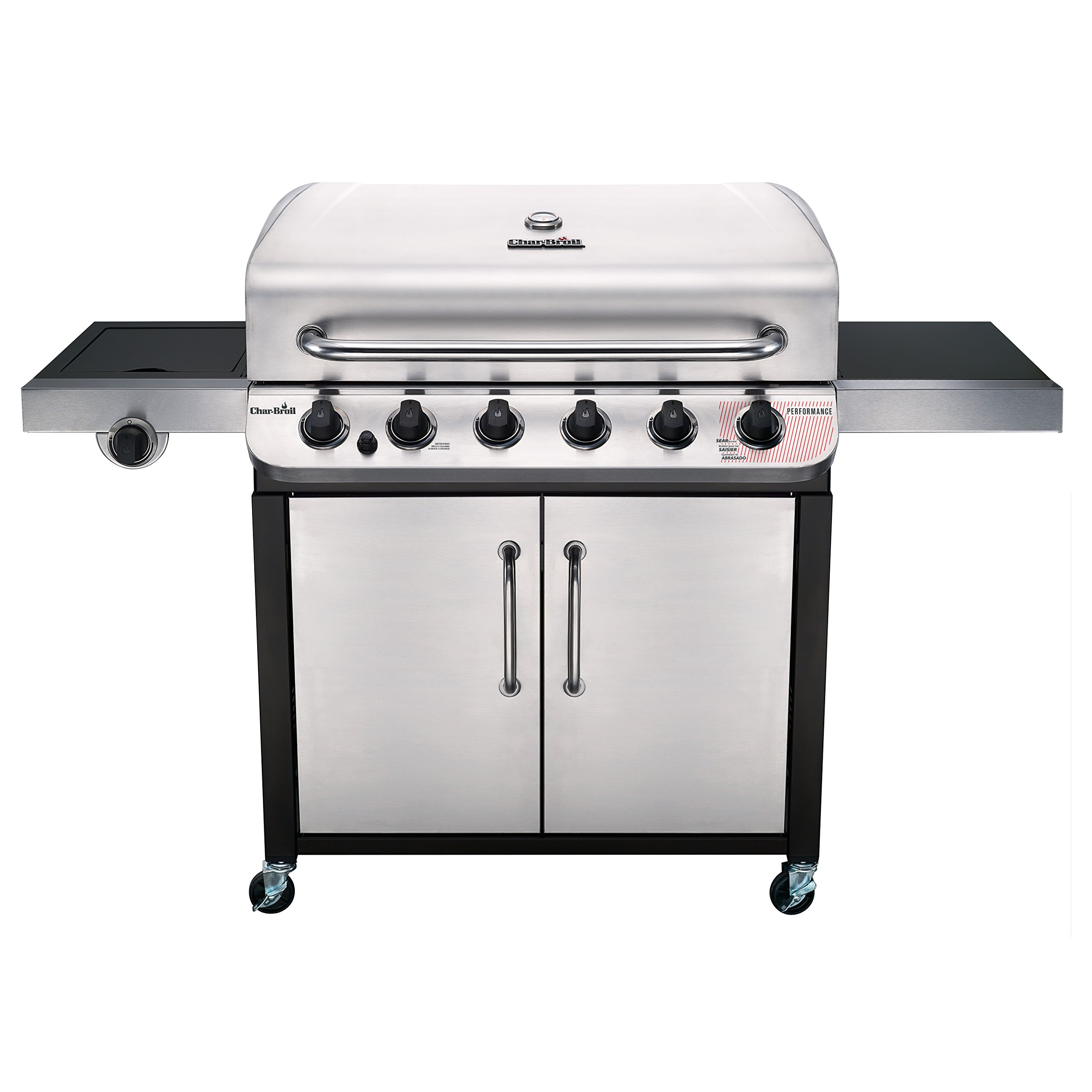 Char-Broil 463274619 Performance Series 6-Burner Gas Grill, Stainless/Black by Char-Broil
